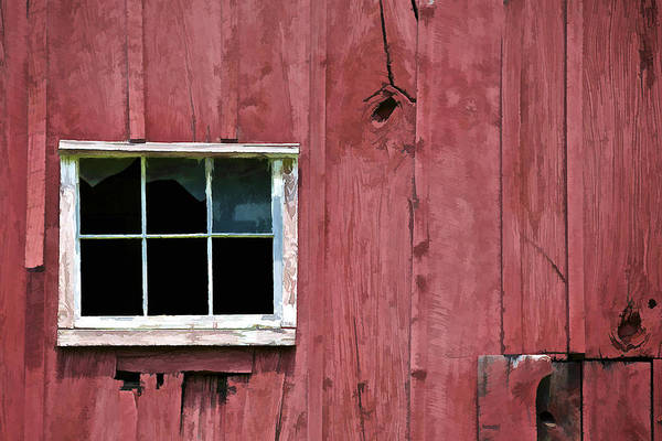 Photograph - Window On A Red Barn II by David Letts