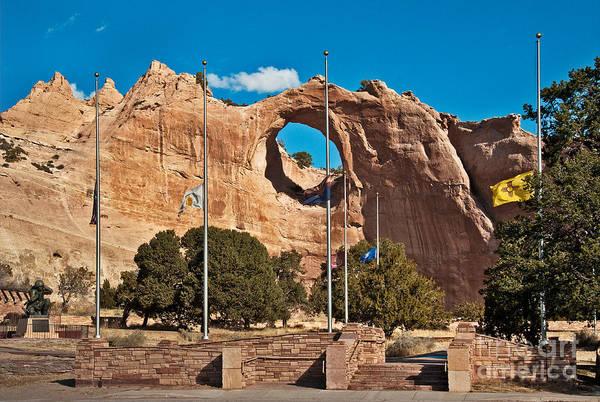 Photograph - Window Rock Memorial by Mae Wertz