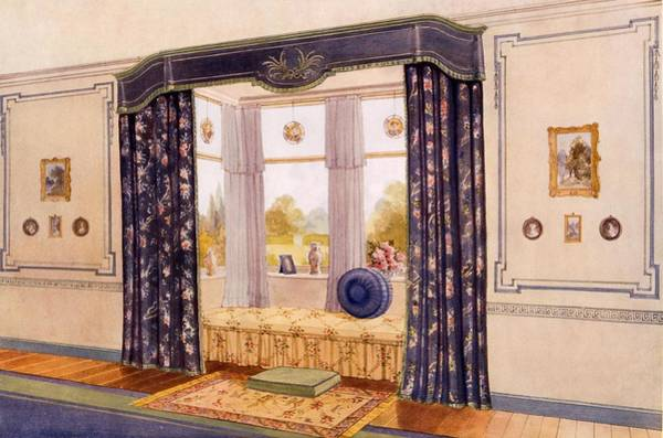 Window Drawing - Window Seat Encased By Luxurious by Richard Goulburn Lovell