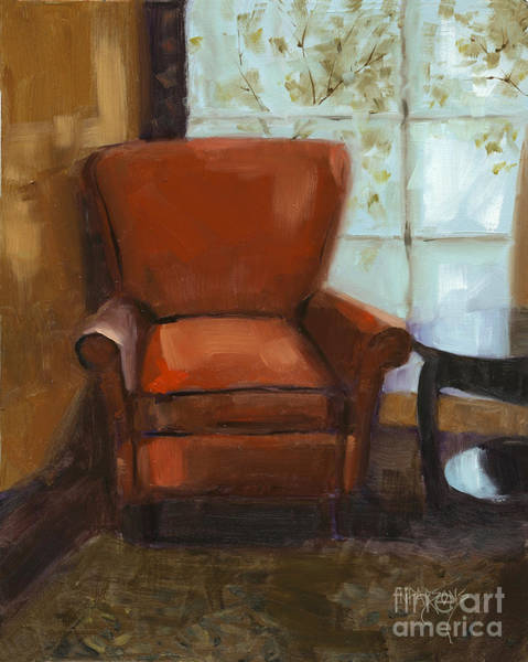 Painting - Window Seat by Nancy  Parsons