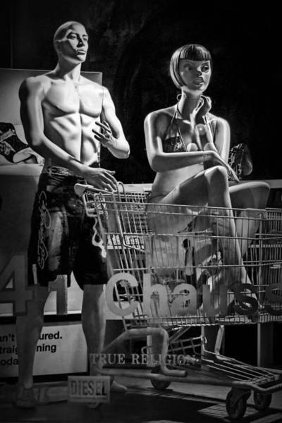 Photograph - Window Shop Display In Ottawa Ontario With Mannequins by Randall Nyhof
