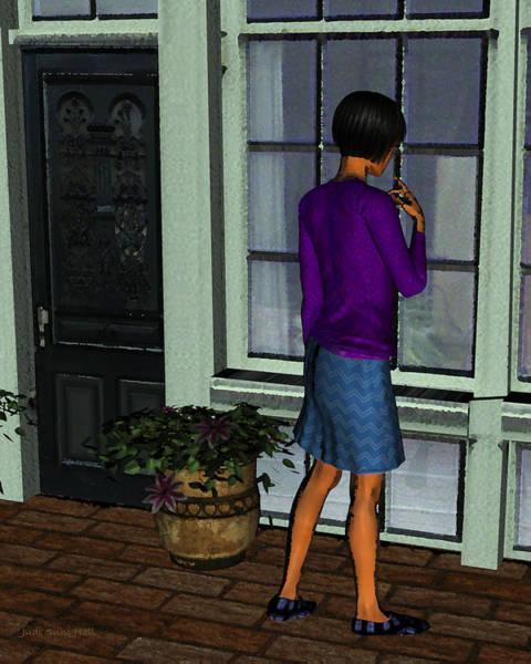 Digital Art - Window Shopper by Judi Suni Hall