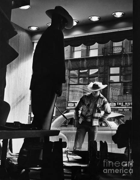 Photograph - Window Shopping Cowboy by Photo Researchers