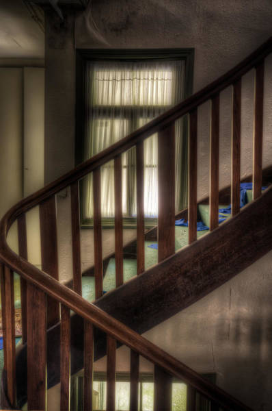 Depressed Digital Art - Window Stairs by Nathan Wright