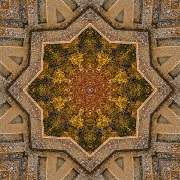 Photograph - Windows To Autumn Mandala 1 by Beth Sawickie
