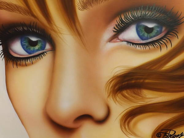 Eyeliner Wall Art - Painting - Window To The Soul by Darren Robinson