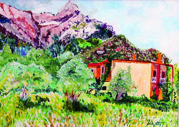 Painting - Window View Thasos by James Lavott