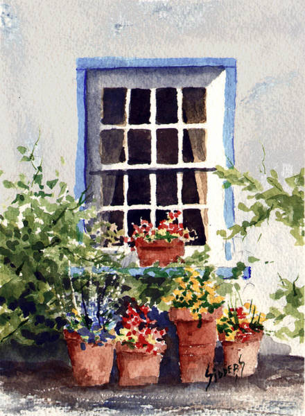 Painting - Window With Blue Trim by Sam Sidders