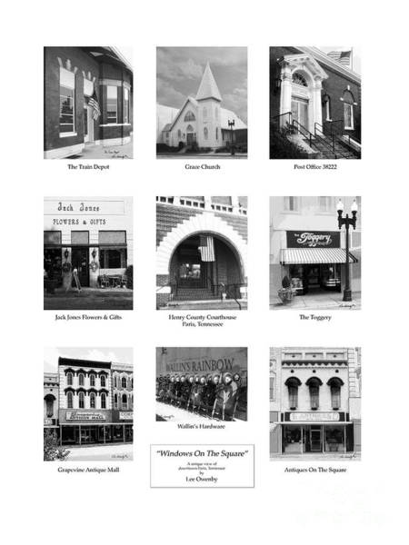 Photograph - Windows Collage Bw by Lee Owenby