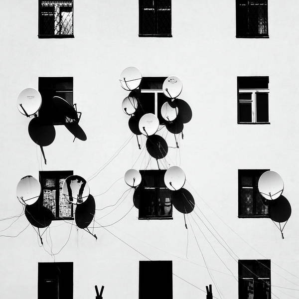Satellite Photograph - Windows by Marina Yushina