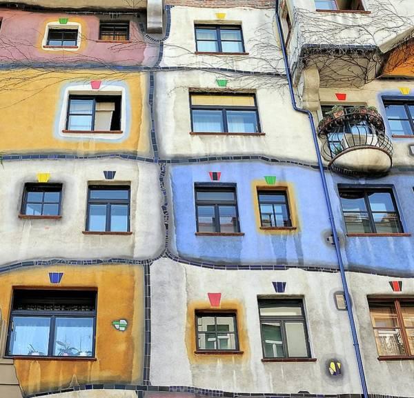 Vienna Photograph - Windows Of Hundertwasser by Yair Tzur
