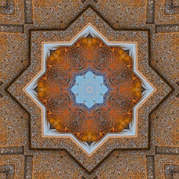 Photograph - Windows To Autumn Mandala 5 by Beth Sawickie