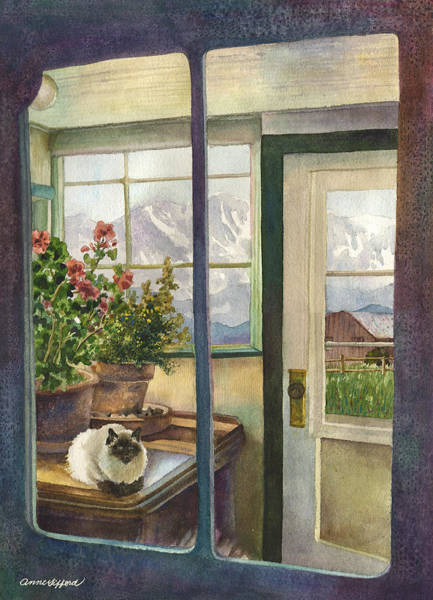 Wall Art - Painting - Windows To The World by Anne Gifford