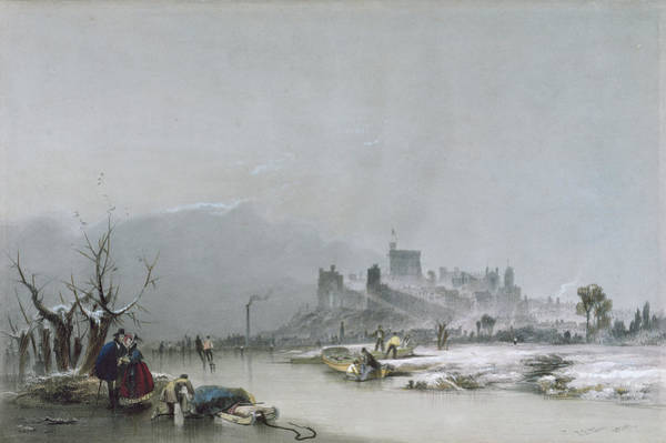 Wall Art - Painting - Windsor Castle From The Thames, 19th Century by James Baker Pyne