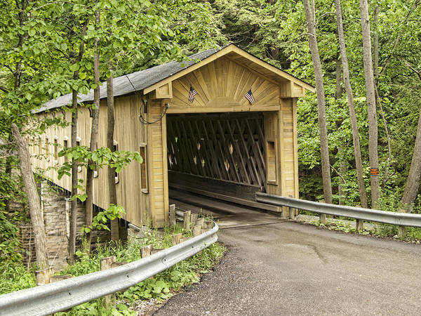 Wall Art - Photograph - Windsor Mills Covered Bridge by Phyllis Taylor