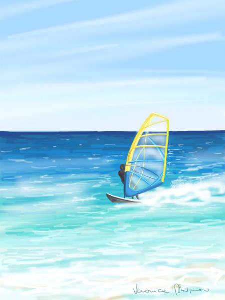 Wave Wall Art - Painting - Windsurf by Veronica Minozzi