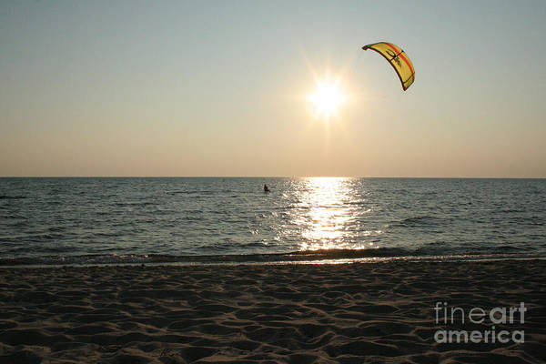 Encounter Bay Photograph - Windsurfing Cape Cod Bay by John Turek
