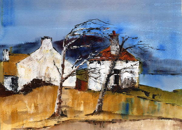 Painting - Windswept  by Val Byrne