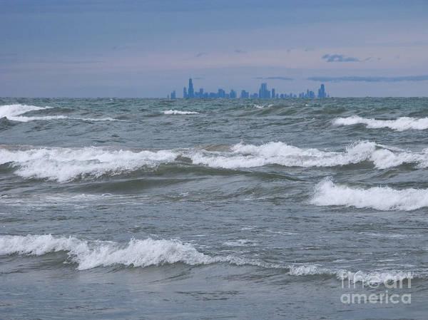 Photograph - Windy City Skyline by Ann Horn