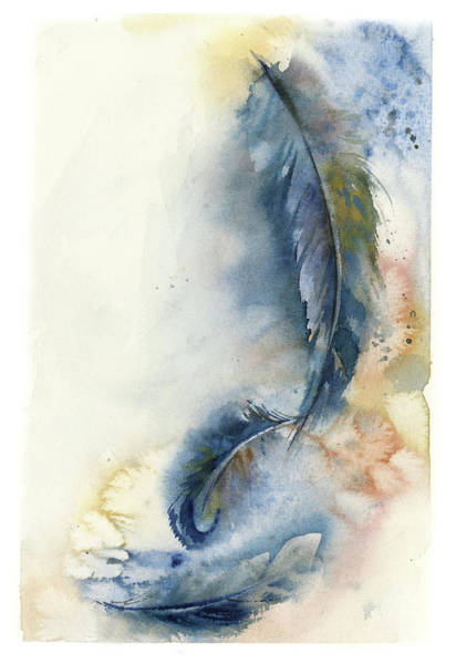 Wall Art - Painting - Windy Feathers by Sophia Rodionov