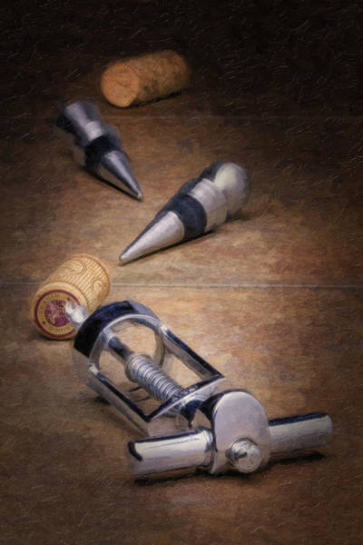 Technique Photograph - Wine Accessory Still Life by Tom Mc Nemar