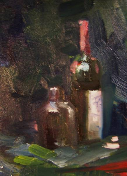 Sand Creek Painting - Wine And A Jug by Dan Smart