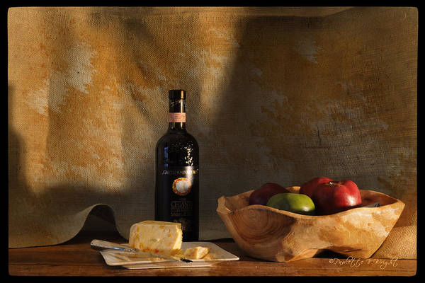 Photograph - Wine And Cheese 1 by Paulette B Wright