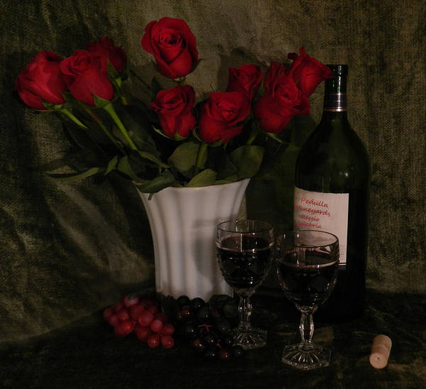 Photograph - Wine And Roses by Grace Dillon
