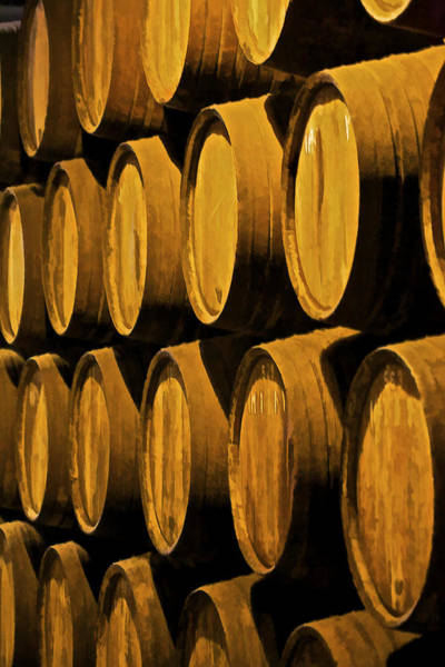 Photograph - Wine Barrels by David Letts