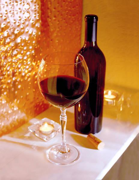 Brandy Photograph - Wine By Candlelight   by Jon Neidert