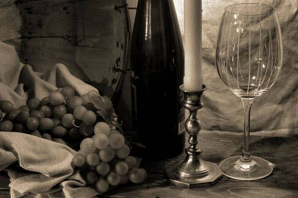 Wall Art - Photograph - Wine By Candlelight by Dan Sproul