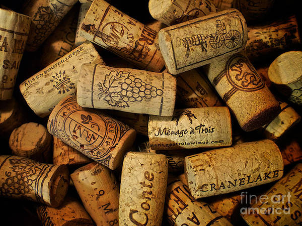 Photograph - Wine Corks by Mark Miller