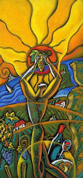 Demonstrating Wall Art - Painting - Wine Festival by Leon Zernitsky