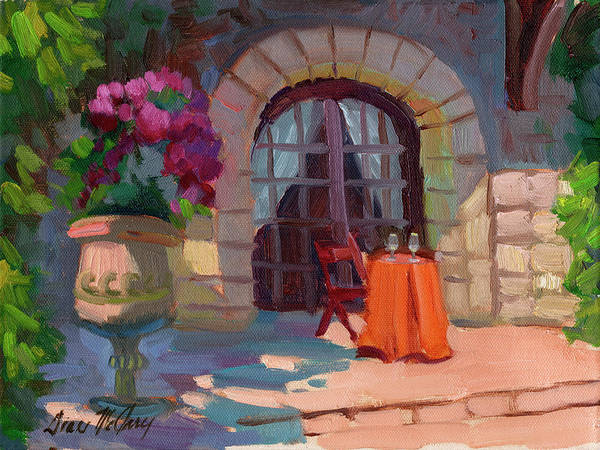 Bistros Painting - Wine For Two by Diane McClary
