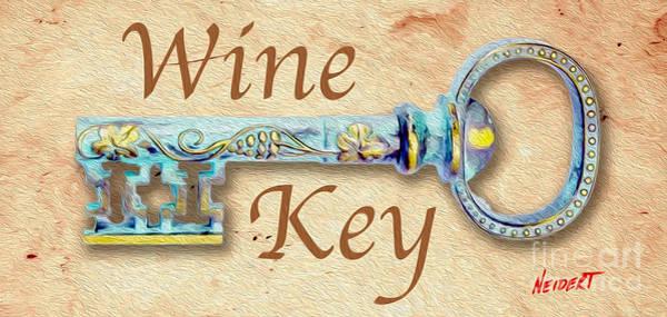 Still Life Mixed Media - Wine Key Painting  by Jon Neidert