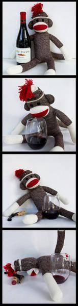 Sock Monkey Photograph - Wine Monkey by William Patrick