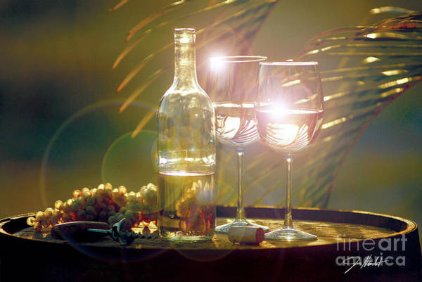 Wine Barrel Wall Art - Mixed Media - Wine On The Barrel by Jon Neidert