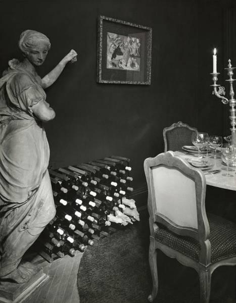 Wall Art - Photograph - Wine Rack In James Beard's Dining Room by Tom Leonard