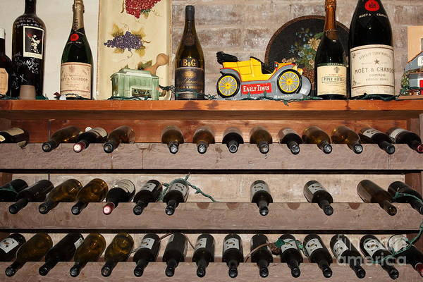 Wall Art - Photograph - Wine Rack In The Cellar Room At The Swiss Hotel In Sonoma California 5d24445 by Wingsdomain Art and Photography