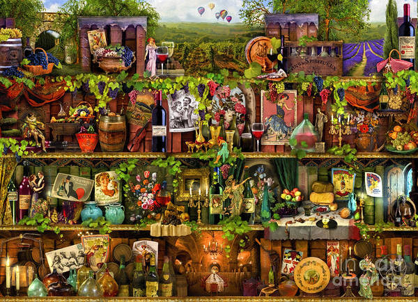 Wall Art - Digital Art - Wine Shelf by MGL Meiklejohn Graphics Licensing