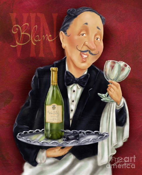 Drawing - Wine Sommelier by Shari Warren