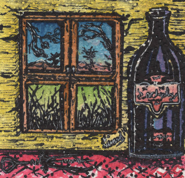 Drawing - Wine With A View by Jason Girard