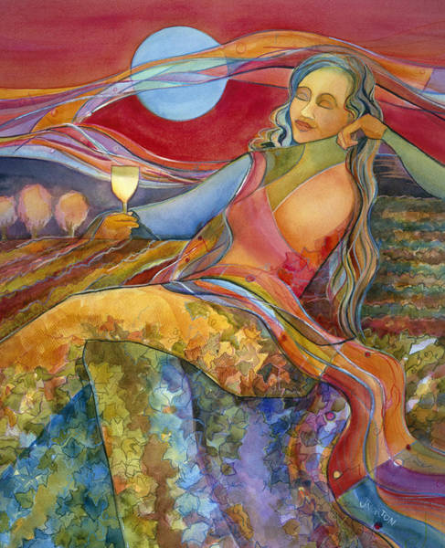 Wine Country Painting - Wine Woman And Song by Jen Norton