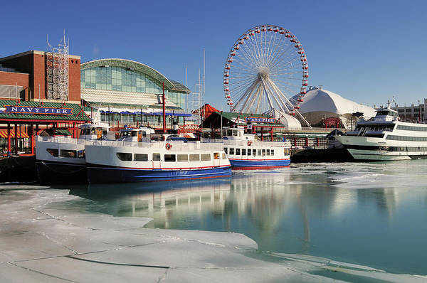 Ice Floe Photograph - Winer Locked Navy Pier by Bruce Leighty