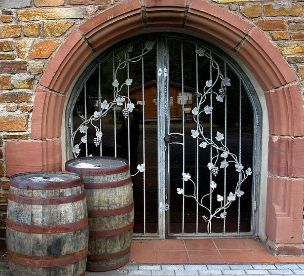 Photograph - Winery Doors by Gerry Bates
