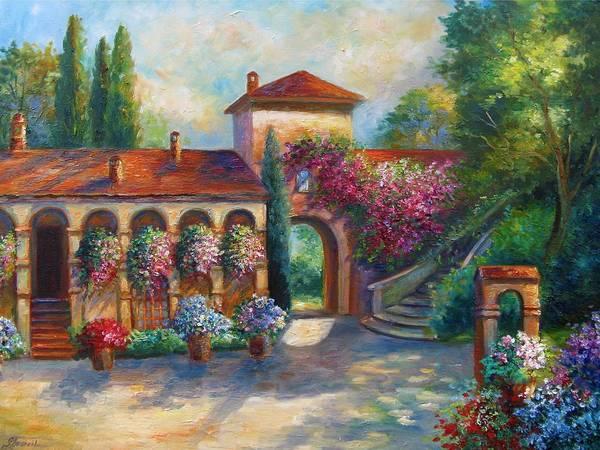 Wall Art - Painting - Winery In Tuscany by Regina Femrite