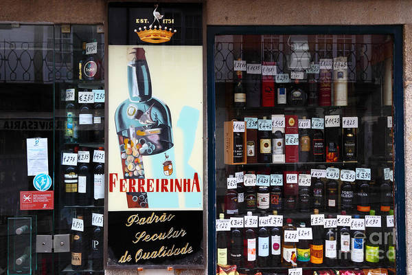 Photograph - Wines And Ports For Sale Portugal by James Brunker
