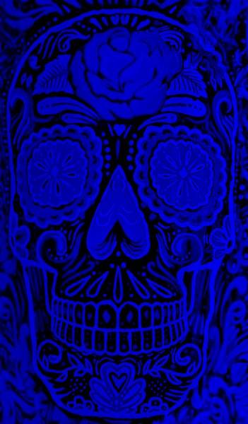 Photograph - Wineskull Light Blue by Rob Hans