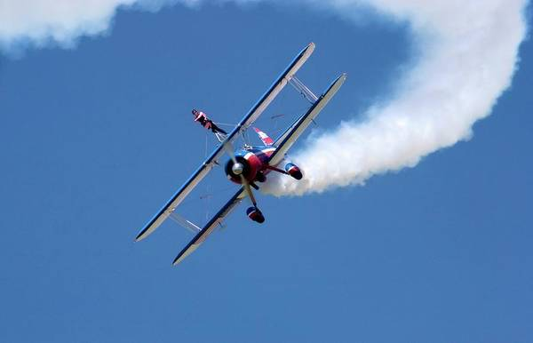 National Guard Photograph - Wing-walking Display by Jim West