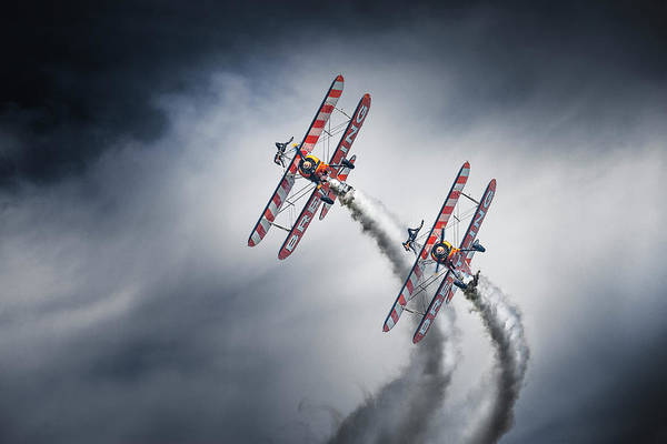 Aviation Photograph - Wingwalkers by Leon